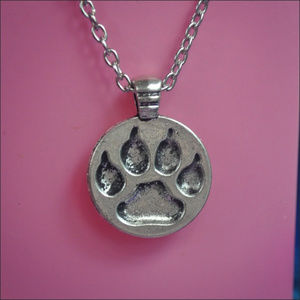 Jewelry - Silver Paw Print Necklace